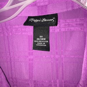 Bright pink/purple women's size 3x  5 button front